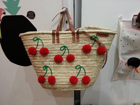 straw beach bag, Panier de plage par PalmStyleShop