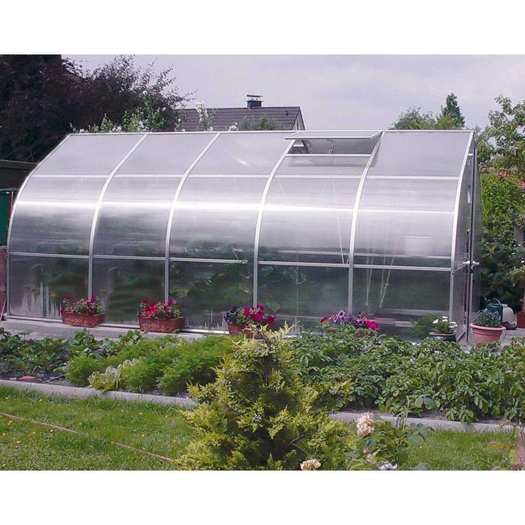 Hoklartherm RIGA V 9.6 x 17.1-Foot Greenhouse Kit - RIGA5/RIGA5BASE/TOP&BOTTOM SHELF