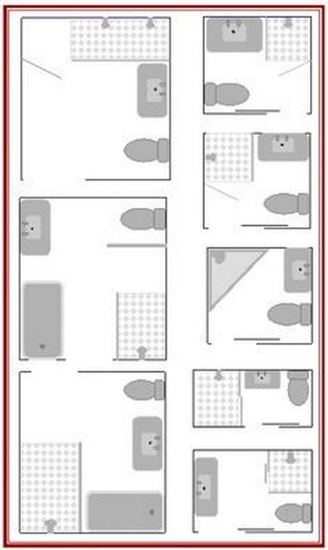 95 Nice Small Full Bathroom Layout Ideas With Images Small Bathroom Plans Small Bathroom Layout Bathroom Floor Plans