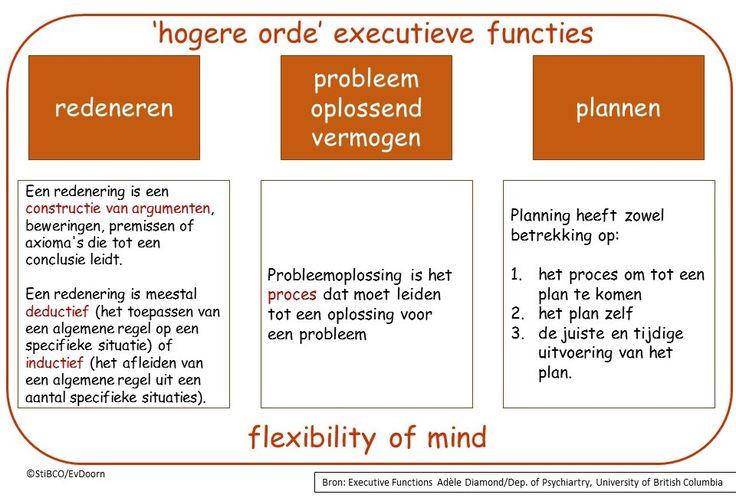 Hogere executieve functies en flexiblity of mind. A. Diamond. StiBCO-Emiel van Doorn