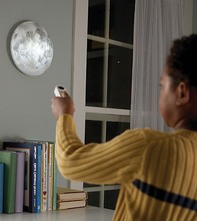 """""""Moon in my Room"""". Night light, plus it cycles automatically through the moon phases."""