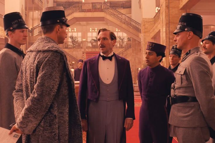 "Gustav: ""She's been murdered, and you think I did it."" [runs away] Honestly Ralph Fiennes deserved at least an Oscar nomination for his acting here in The Grand Budapest Hotel"