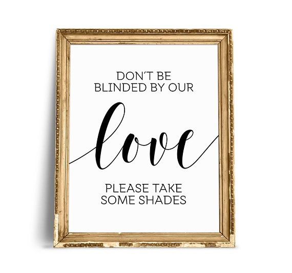 don t be blinded by our love