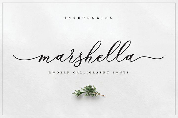 Marshella Script | All font you need | Script layout, Handwriting