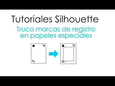 Truco de marcas de registro en papeles especiales - YouTube