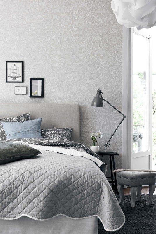 Tapet i sovrummet: Boråstapeter