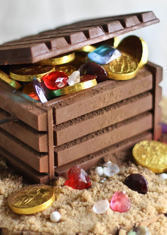DIY edible treasure chest