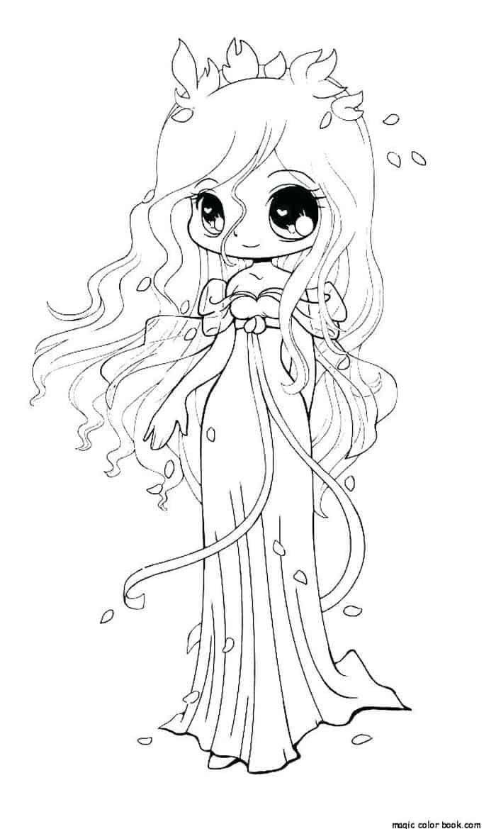 Fairy Princess Coloring Pages In 2020 Animal Coloring Pages Chibi Coloring Pages Disney Princess Coloring Pages