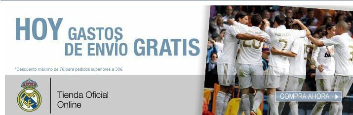 HOY 24 de mayo, gastos de envío #gratis tienda oficial Real Madrid  http://www.expotienda.com/index.asp?categoria=4=5