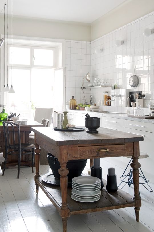 cocina, lampara, cabinets, comedor