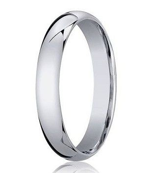 Gleaming in 14K white gold, the clean lines of this classic wedding ring make it a favorite among men who love simple elegance. This 14K White Gold Wedding Ring was designed with Comfort-Fit, which means it is rounded and smooth on the inside edges for an extremely comfortable fit. If you are looking for a simple, well made wedding band, this 4 mm domed design is an excellent choice.  $413.95