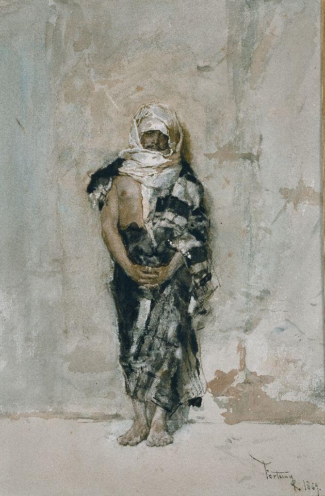 Hombre marroquí 1869. Acuarela y Gouache sobre papel, 30x20cm. Museo del Prado.