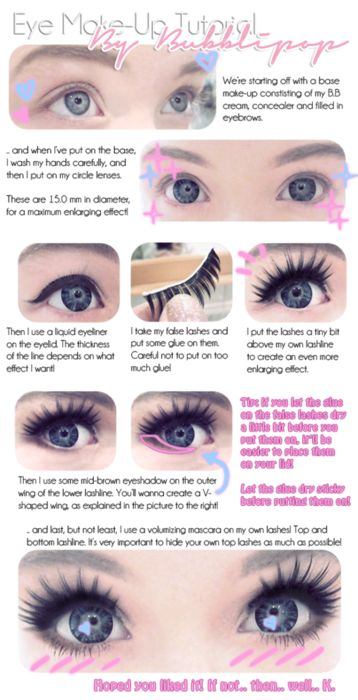 Eye make up tutorial great baby doll halloween look