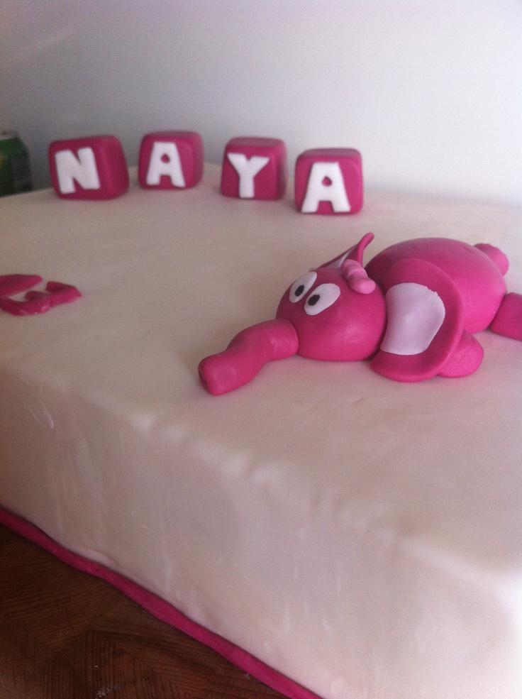 Dåbskage til Naya Klodser og elefant