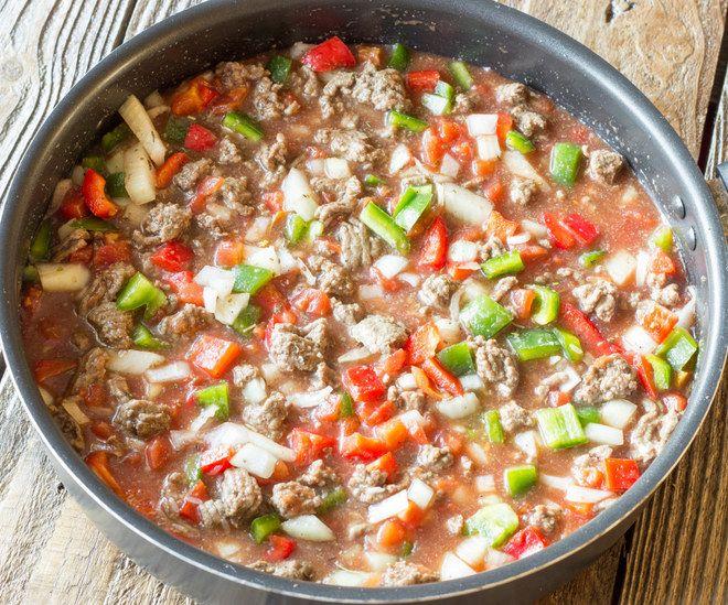 One Pot de riz au boeuf et poivron