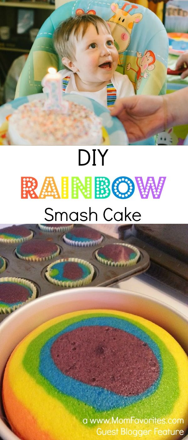 No matter what your baking ability, this DIY Rainbow Smash Cake will rock your world - in a good way!