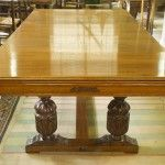7ft Riley Antique Refectory Snooker Dining Table.Carved Oak.   Browns Antiques Billiards and Interiors.