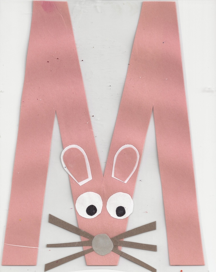 m is for mouse, alphabet craft