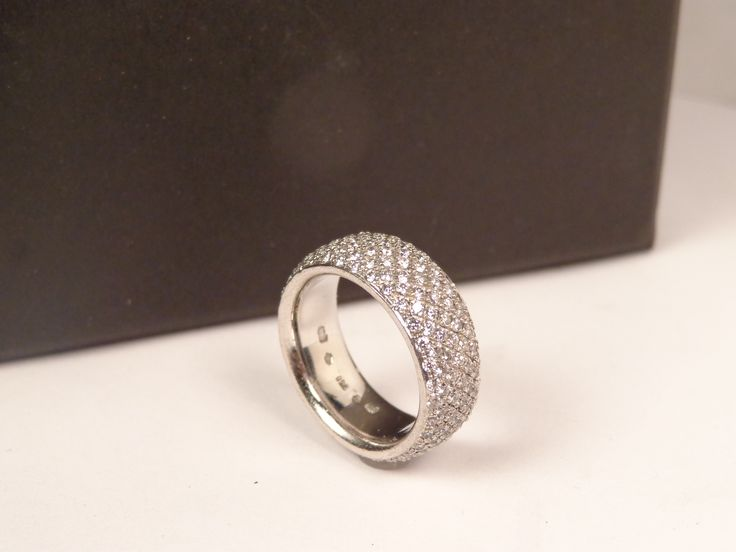 Genuine Bottega Veneta 18K 3.71 ct pave band, amazing and here for a short time, before we sell off to the trade, about 60% off list, hhorwitz.com  3 Repins