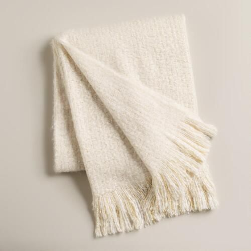 One of my favorite discoveries at WorldMarket.com: Ivory Lofty Faux Mohair Throw