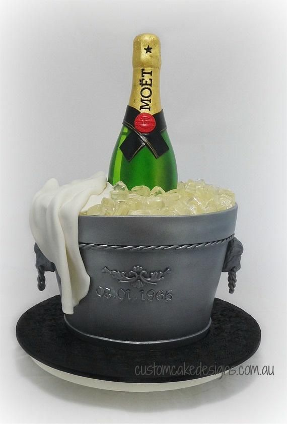 Moet Champagne on Ice - Cake by customcakedesignsoz