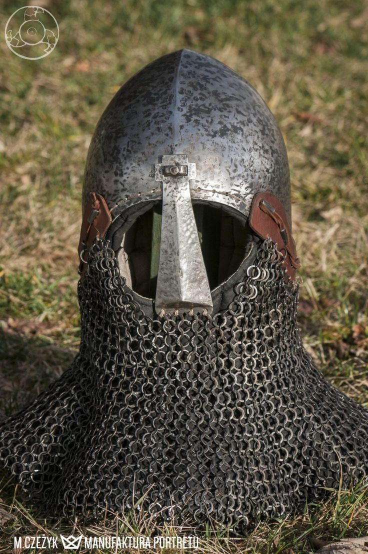 Helmet with aventail