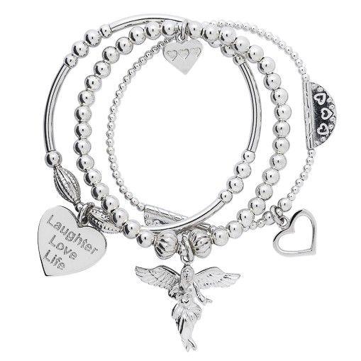 Sterling Silver Santi My Guardian Angel Charm Bracelet