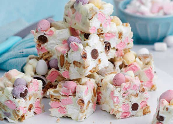 Mini Egg rocky road bites are sure to be a hit this Easter. These simple, no-bake treats will go down a storm this Bank Holiday weekend – click here for more