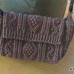 【編み図】かぎ針アラン模様の斜め掛けバッグ