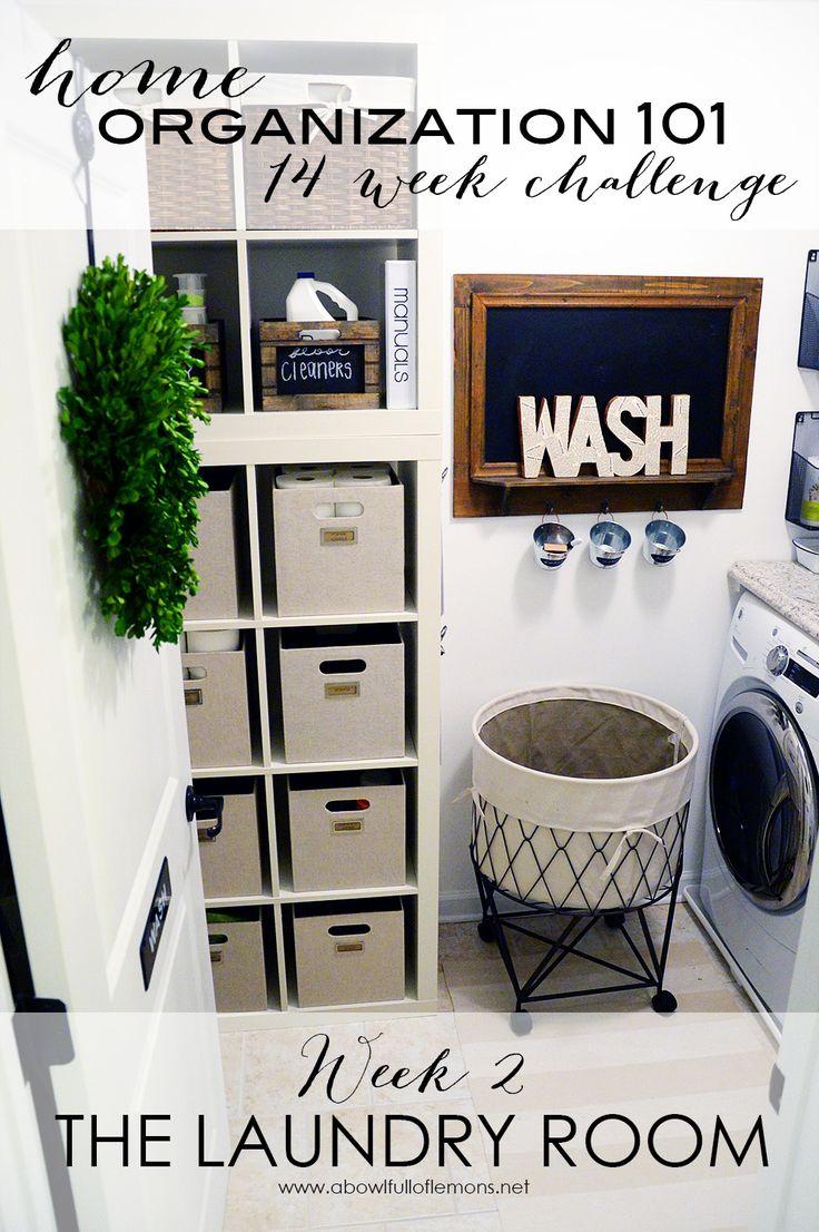 Home Organization Challenge Week 2 The Laundry Room via A Bowl Full of Lemons