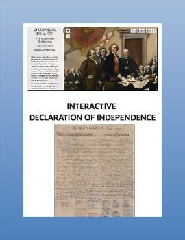 This is a great online activity to introduce the history, art, or geography of the signers of the Declaration of Independence.  (Practice reading informational text or primary source documents, maps, biographies, . . .)