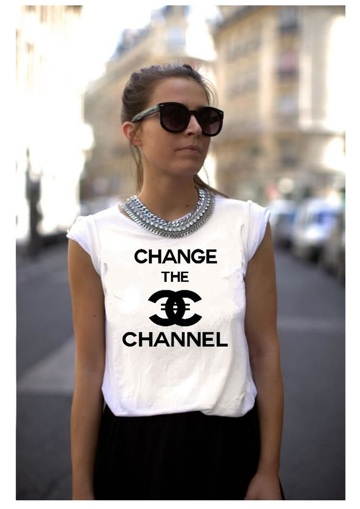 Chanel Shirt Parody - Change the channel  tshirt by WHITeez on Etsy