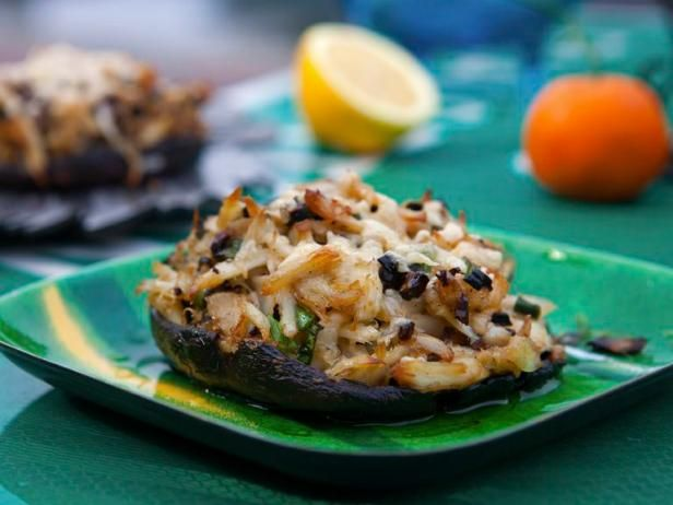 Get Guy Fieri's Crab Stuffed Portobellos Recipe from Food Network