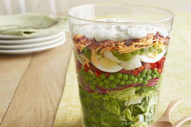 Cette jolie salade méritera de nombreux éloges!