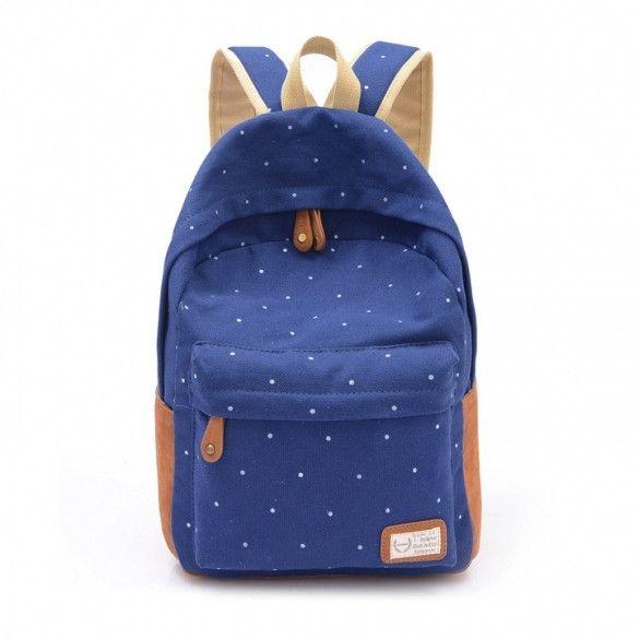 Hotsale Cute Fashion Womens Canvas Travel Satchel Shoulder Bag Backpack School Rucksack