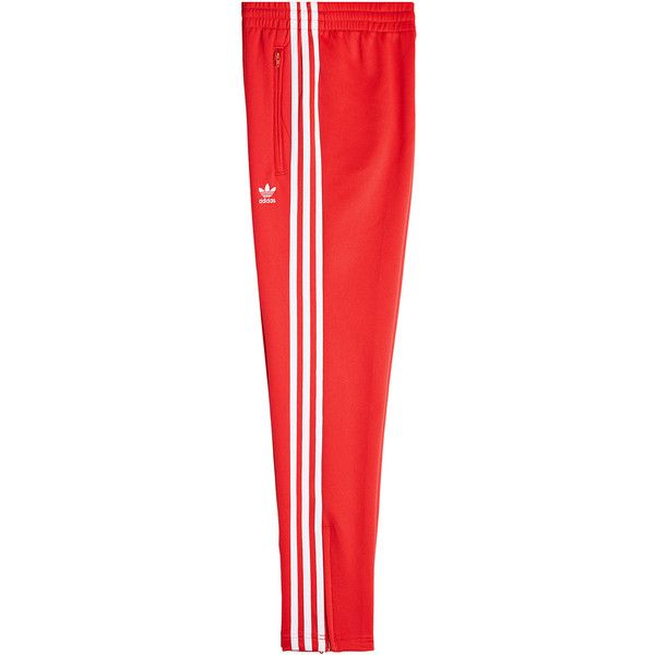Adidas Originals Adicolor Track Pants ($67) ❤ liked on Polyvore featuring activewear, activewear pants, red, adidas originals, athletic sportswear, athletic track pants and track pants