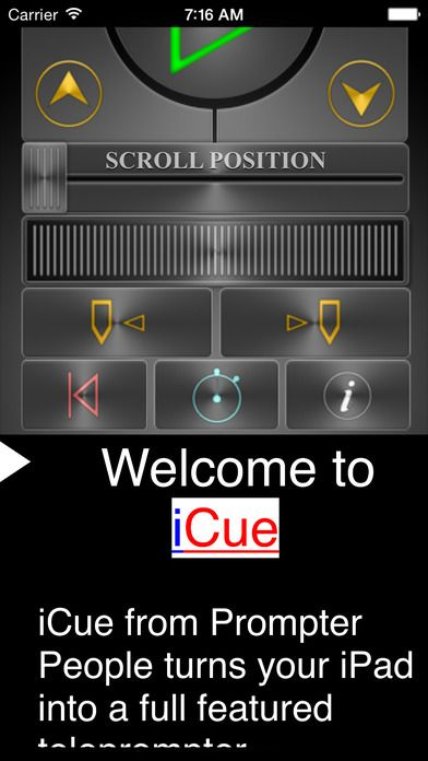 iCue Remote - use iPhone as remote for iPad in teleprompter