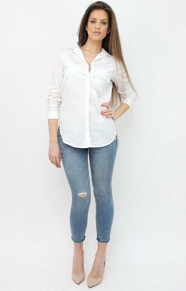 Knee-Rip Casual Jeans for chic spring outfits. http://famevogue.ro/produse_noi_94/blugi_casual_rupti_in_genunchi  #jeans #denim #pants #style #fashion