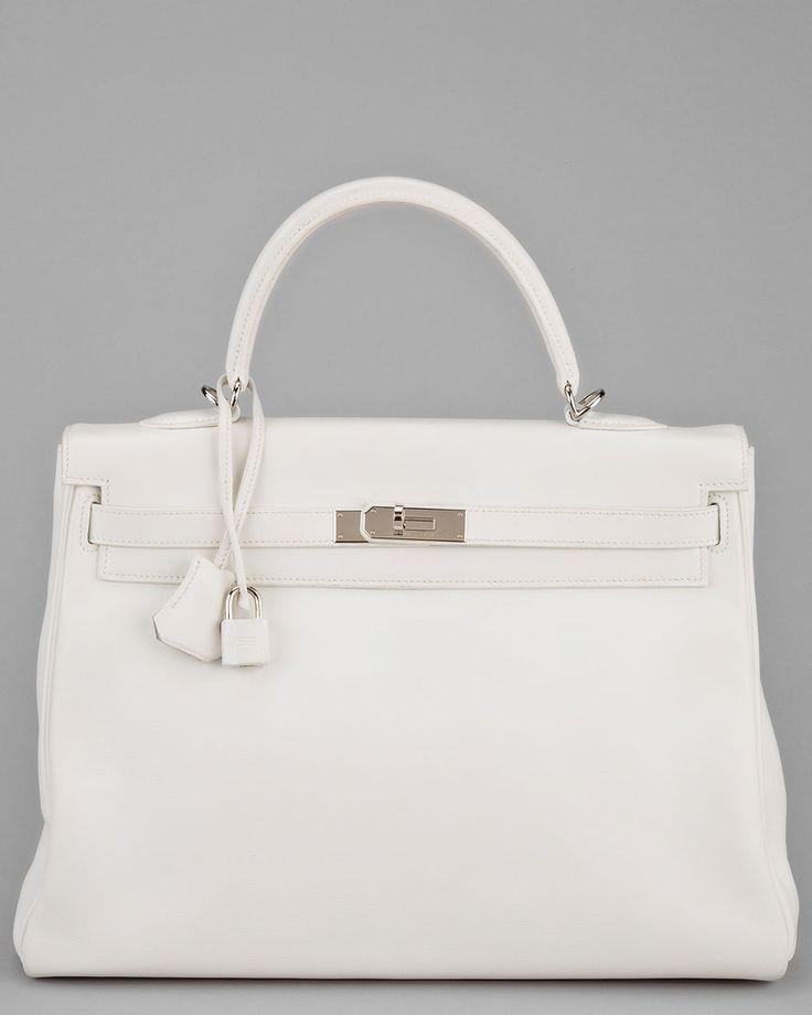   P   White Hermes Birken Bag