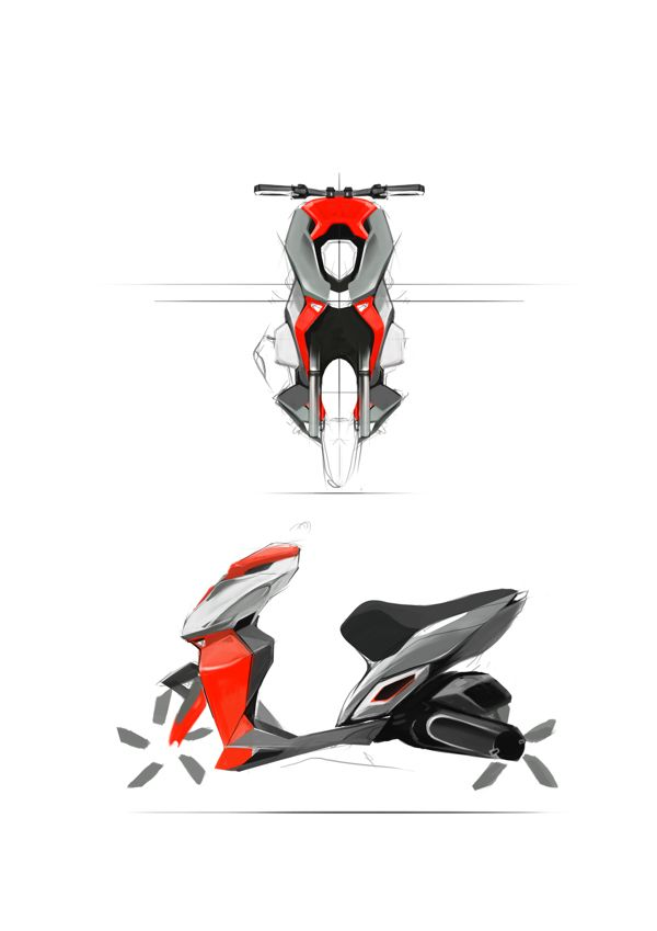 concept scooter on Behance