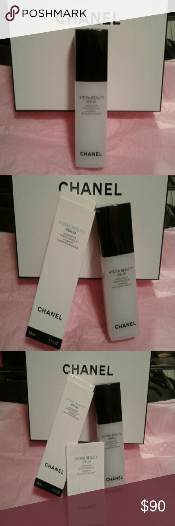 CHANEL HYDRA BEAUTY SERUM Hydration protection radiance serum. Unopened, still in box with pamphlet. CHANEL Makeup