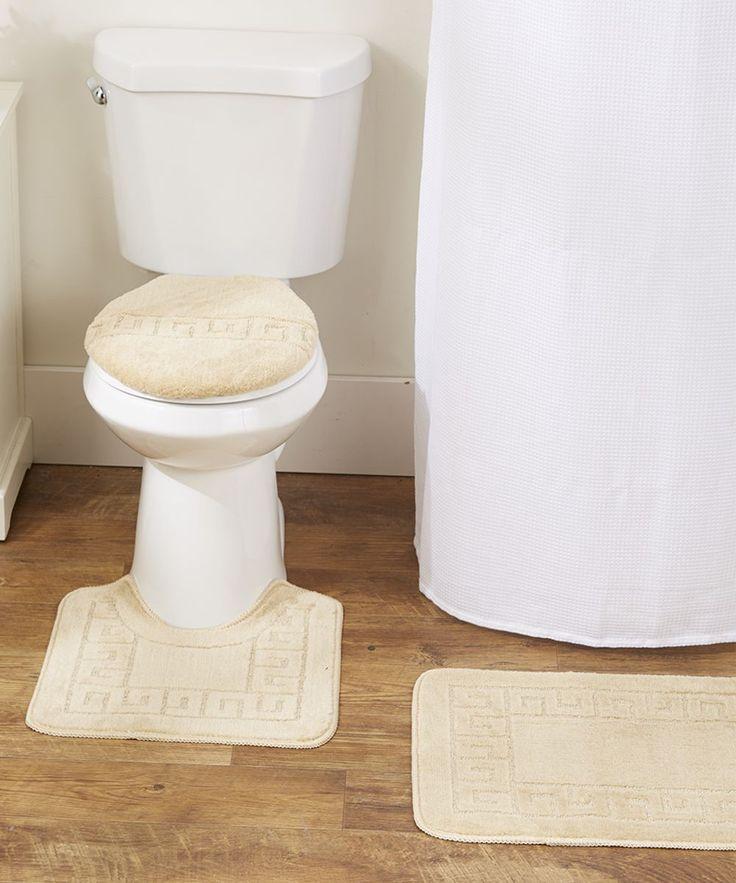 Beige Greek Key Three Piece Bathroom Rug Set. 1000  ideas about Bathroom Rug Sets on Pinterest   Leopard print