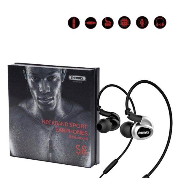Remax Sports Bluetooth Earphone Rb S8 Black Bluetooth Earphones Earphone Mini Bluetooth Speaker