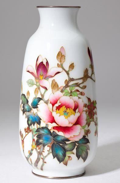 Ando Jubei Shaded Cloisonne Vase. 12/7, 9am