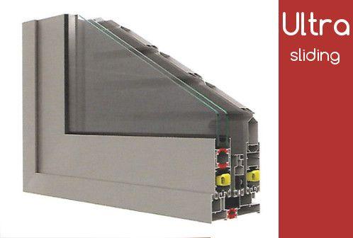 Το θερμομονωτικό σύστημα αλουμινίου Alousystem Ultra Slidiing 2016 είναι το πλέον κατάλληλο σύστημα και για αντικατάσταση παλαιόν συρόμενων κουφωμάτων.