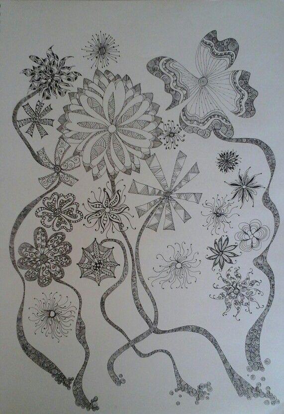 The dancing flower garden by Lee Burke