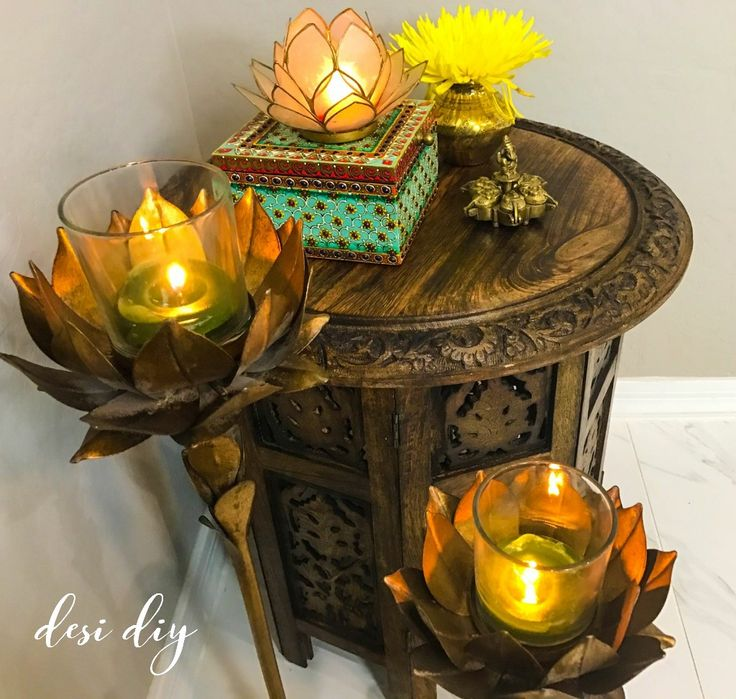 brass decor, diwali decor, ethnic, home decor, capiz candle holders, home decorations, indian decor, lotus candle holder