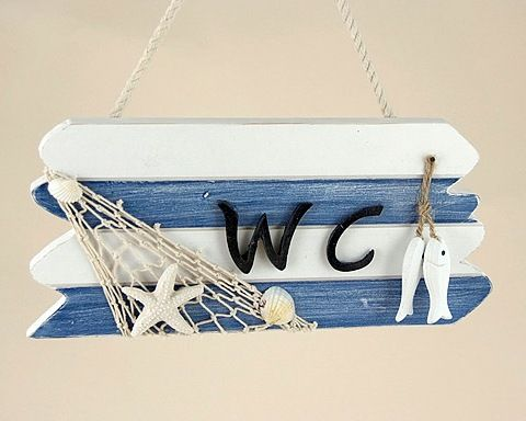SEASIDE THEME WC SIGN ZY50
