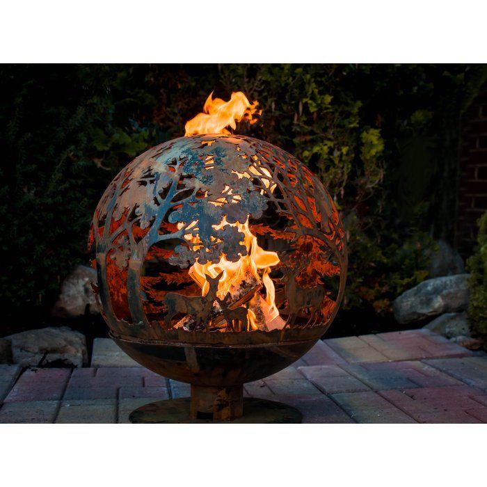 Fancy Flames Globe Wildlife Fire Outdoor Fire Pit Outdoor Fire Pit Fire Pit Globe Fire Pit Size