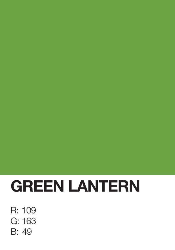 Pantone Superheroes Green Lantern